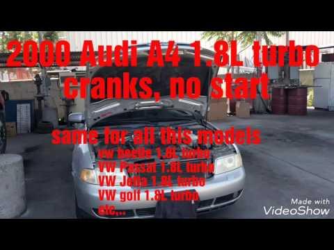 1994-2001 Audi A4 1.8L T cranks but won't start (cam position sensor replacement Audi code P0343)