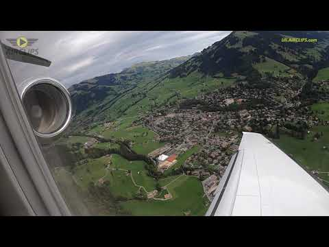 CRAZY Mountain Jet Landing! PC-24 Saanen, Switzerland, piloted by Uli! [AirClips]