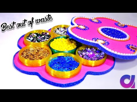 How to make multi storage boxes from old waste bangles | Best out of waste | DIY | Artkala 185