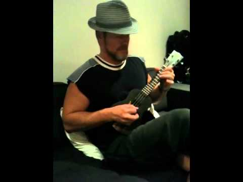 Craig McLachlan on his Uke
