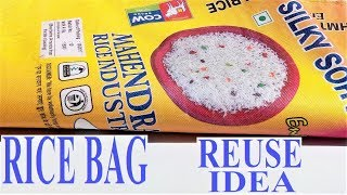 Rice Bag and Old Clothes Reuse Ideas | Waste Material Craft | DIY  Projects