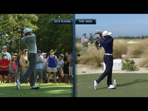 Tiger Woods' slo-mo swing from 2015 vs. 2016 at Hero World Challenge