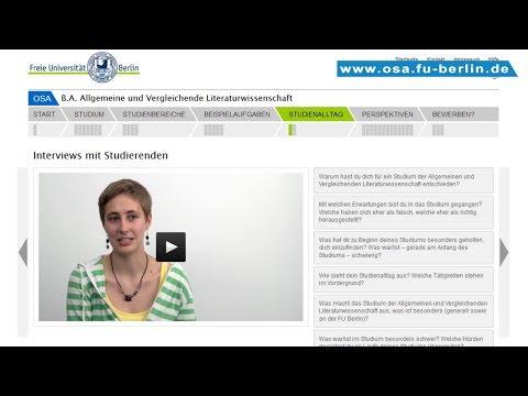 B.A. Allgemeine und Vergleichende Literaturwissenschaft studieren an der Freien Universität Berlin