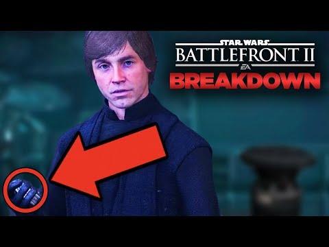 Star Wars Battlefront 2 Easter Eggs - Last Jedi CONNECTIONS (Campaign & Cutscenes Breakdown)