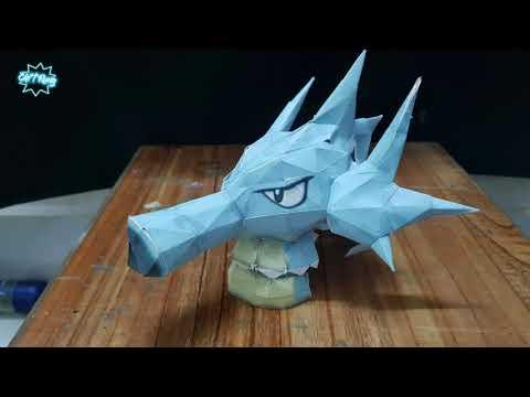 Chít Rung làm mô hình giấy pokemon Seadra [ Papercraft ] Stopmotion video