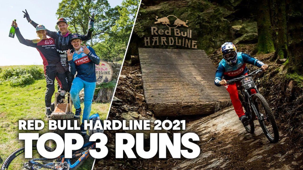 TOP 3 Downhill Runs of Red Bull Hardline 2021 | Bernard Kerr, Laurie Greenland, Kade Edwards