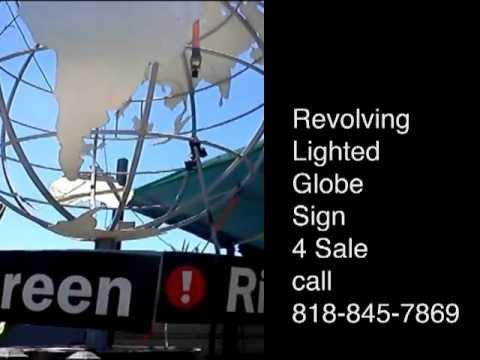 Revolving Globe Sign 4 Sale!