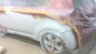 Kia Ceed кузовной ремонт и покраска переходом(К нам приехал Kia Ceed на кузовной ремонт,покраску бампера и дверей переходом. покраска kia,покраска дверей..., 2016-07-24T17:46:52.000Z)