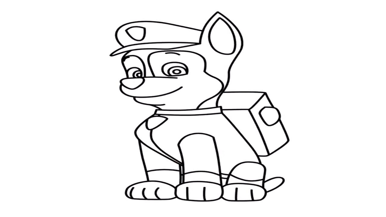This is an image of Crush Skye Paw Patrol Drawing