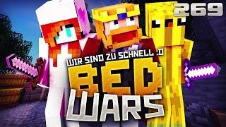 WIR SIND EINFACH ZU SCHNELL! ♛ Minecraft Bedwars