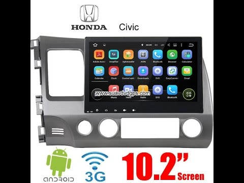 Honda civic car radio gps upgrade android wifi navigation for Honda car app