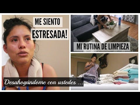 MAMÁ-AMA DE CASA|ME SIENTO ESTRESADA|RUTINA DE LIMPIEZA|Desahogándome con ustedes|Peruana en USA|