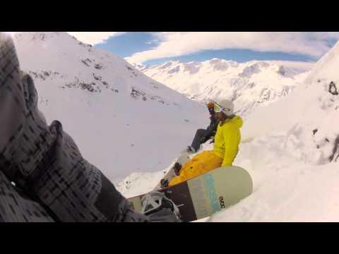 Snowboard Lawine mitgefilmt ... Ein Tag im Schnee :)