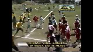 Bronca Toros Neza contra Selección de Jamaica 1997