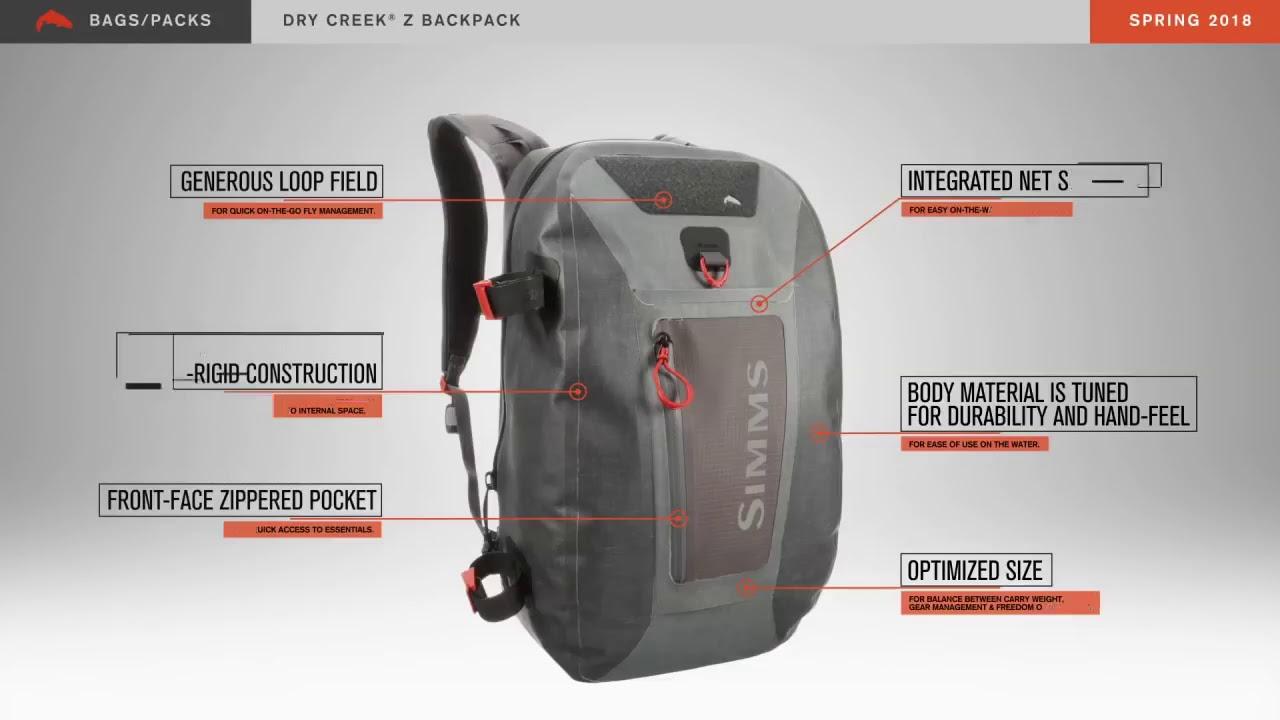 520ca006b019 Simms Dry Creek Z Backpack - YouTube