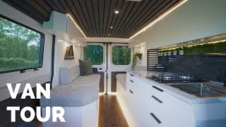 VAN TOUR   MODERN STEALTH CAMPER   DIY Budget Friendly Promaster Tiny Home for Full Time Vanlife!