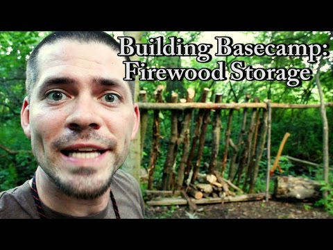Learning Bushcraft: Basecamp - Part 1 (Firewood Storage)