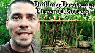 Bushcraft Basecamp - Part 1 (firewood Storage)