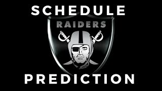 Predicting The Raiders 2018 Schedule With Marcus
