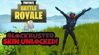 Fortnite Battle Royale - BLOCKBUSTER SKIN UNLOCKED! Blockbuster Challenge Reward