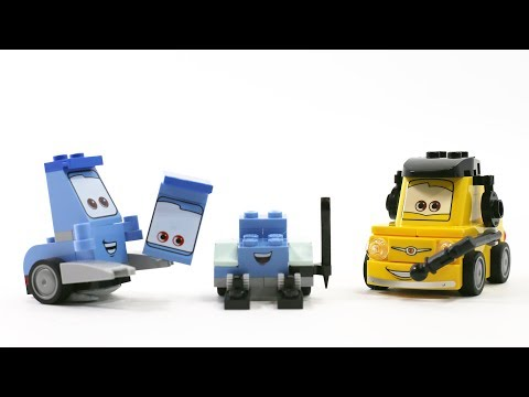 Disney Toys Cars3 Guido's assembly Cars2 Guido and Luigi - Lego Stop motion  movie for children - YouTube