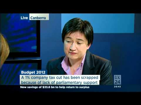 Penny Wong's interview on the 2012-13 budget