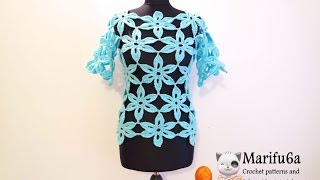 Repeat youtube video how to crochet flower tunic top sweater free pattern tutorial