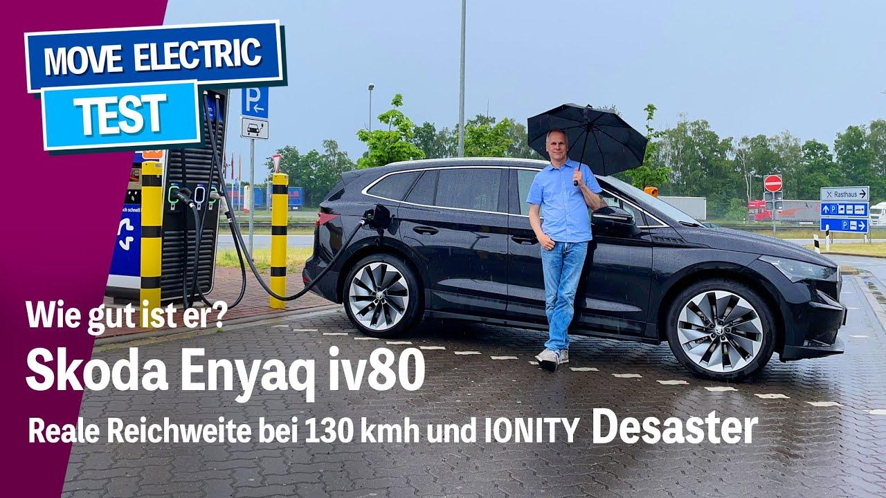 Wie gut ist der Skoda Enyaq iv80? Elektro-Kompakt-SUV bei 130 kmh, inkl. IONITY Totalausfall