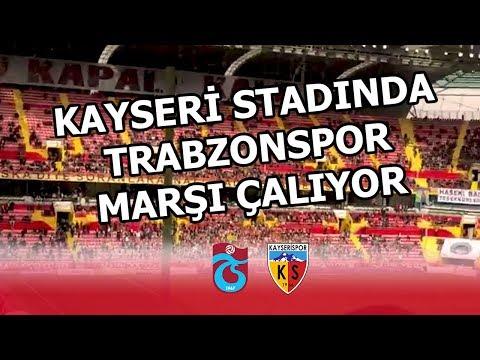 Kayseri Kadir Has Stadyumu'nda Trabzonspor marşı çalıyor