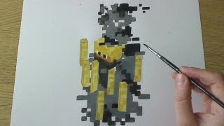 How to Draw/Paint Blaze - Minecraft