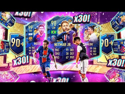 What do you get from 30 Guaranteed 90+ Team of the Season Packs? from YouTube · Duration:  15 minutes 6 seconds