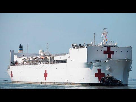WATCH: Navy Hospital Ship 'Comfort' Arrives In New York City Amid Coronavirus