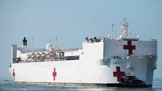 WATCH: Navy hospital ship 'Comfort' arrives in New York City amid coronavirus