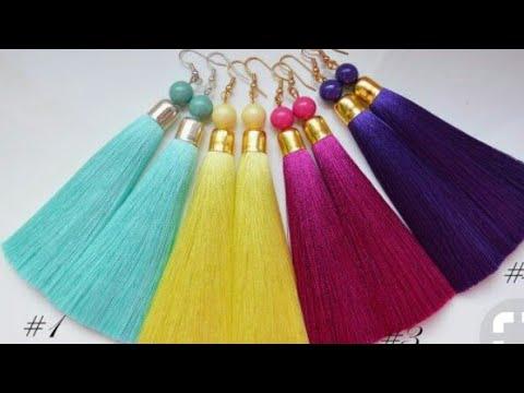 DIY silk thread jewellery | new pattern  silk thread earring | How to make silk thread earrings