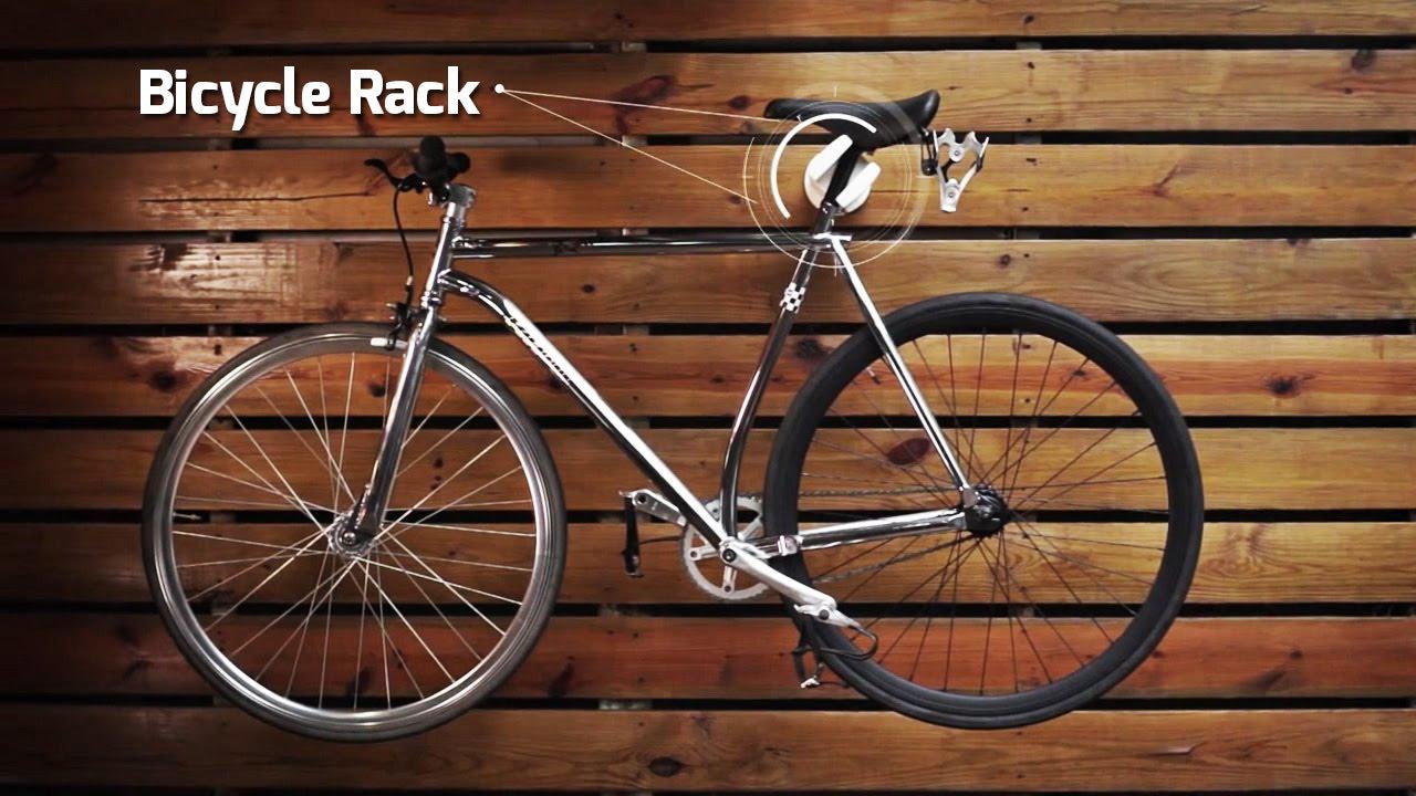 Cool Bike Rack Figo - Wall bike storage  sc 1 st  YouTube & Cool Bike Rack Figo - Wall bike storage - YouTube