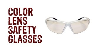 Color Tinted Lens Safety Glasses - GME Suply