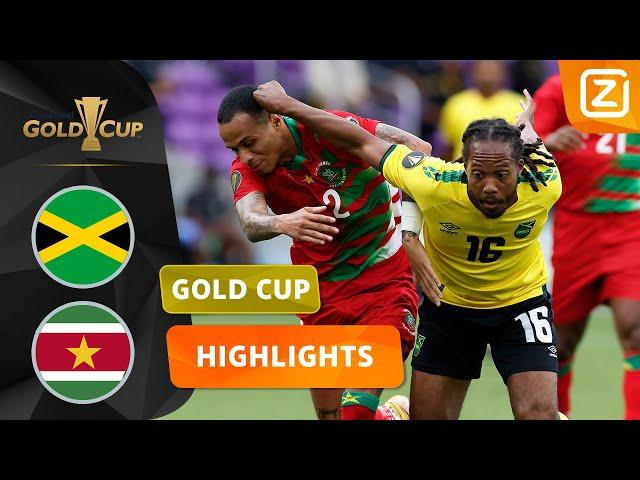 EERSTE GOLD CUP-DUEL OOIT VAN SURINAME🙌| Jamaica vs Suriname | CONCACAF Gold Cup 2021 | Samenvatting