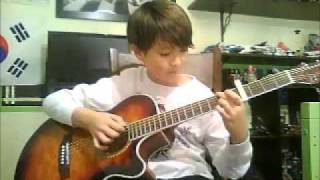 You Are Not Alone - Michael Jackson- Paddy Sun Fingerstyle10 years old