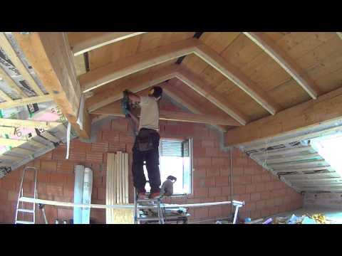 Dachfenster leibung vorbereiten doovi - Dachfenster innenfutter rigips ...