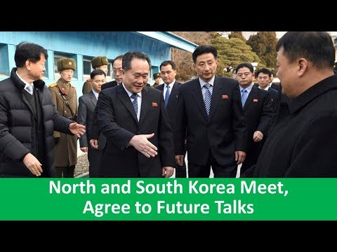 Learn English with VOA News - North and South Korea Meet, Agree to Future Talks
