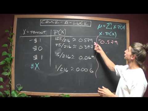 MTH 243 (probabilty distributions - chuck a luck)