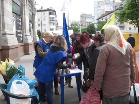 6-го мая 2014 года благотворительная акция для пенсионеров и малоимущих слоев населения г. Житомир.