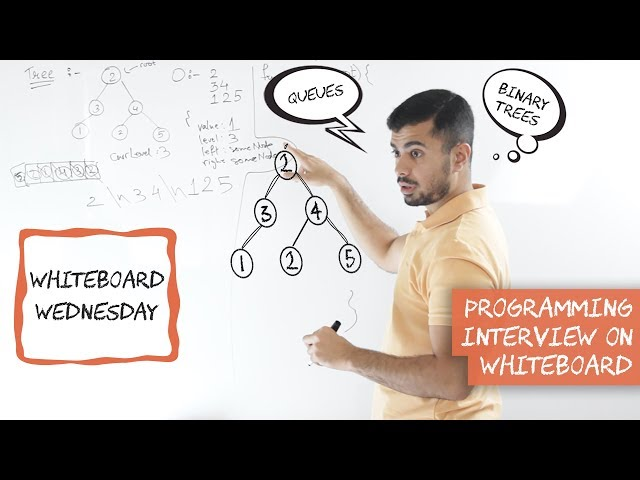 Coding Interview with Binary Trees, Queues and Breadth First Search - Whiteboard Wednesday