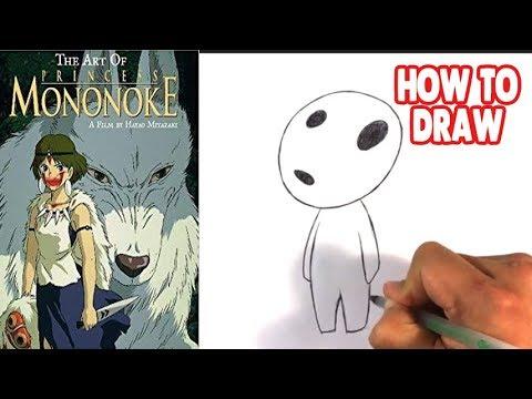 How To Draw Princess Mononoke Kodamas Step By Step For