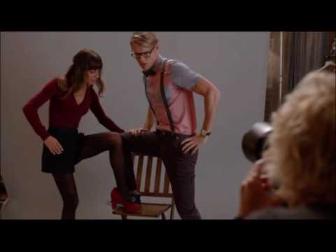 Glee - Rachel helps Sam with his modelling shoot 5x06