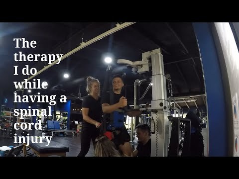 The therapy I do while having a spinal cord injury