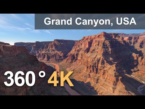 Grand Canyon, USA. Aerial 360 video in 4K