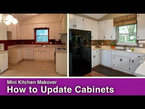 How to Paint & Update Kitchen Cabinets
