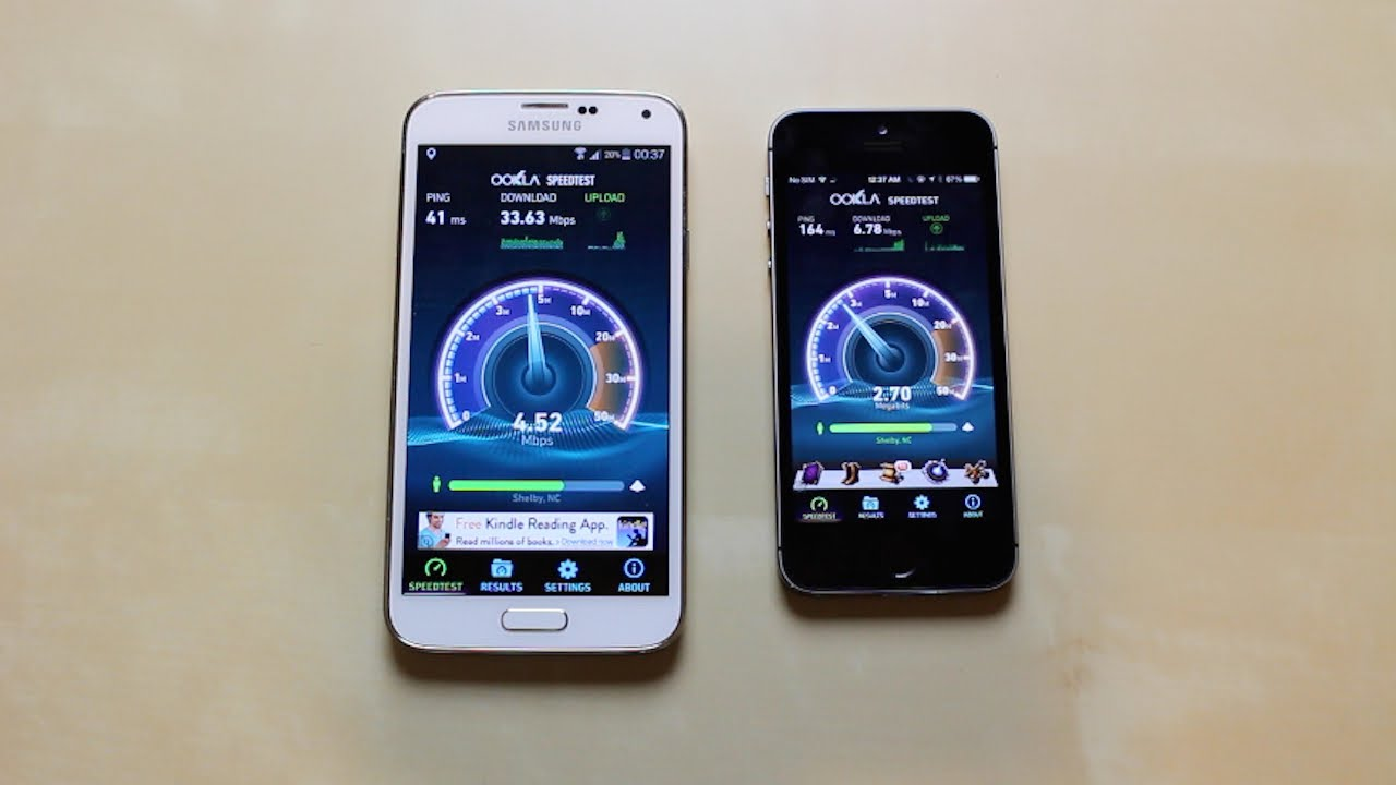 iphone 5s vs s5 speed test