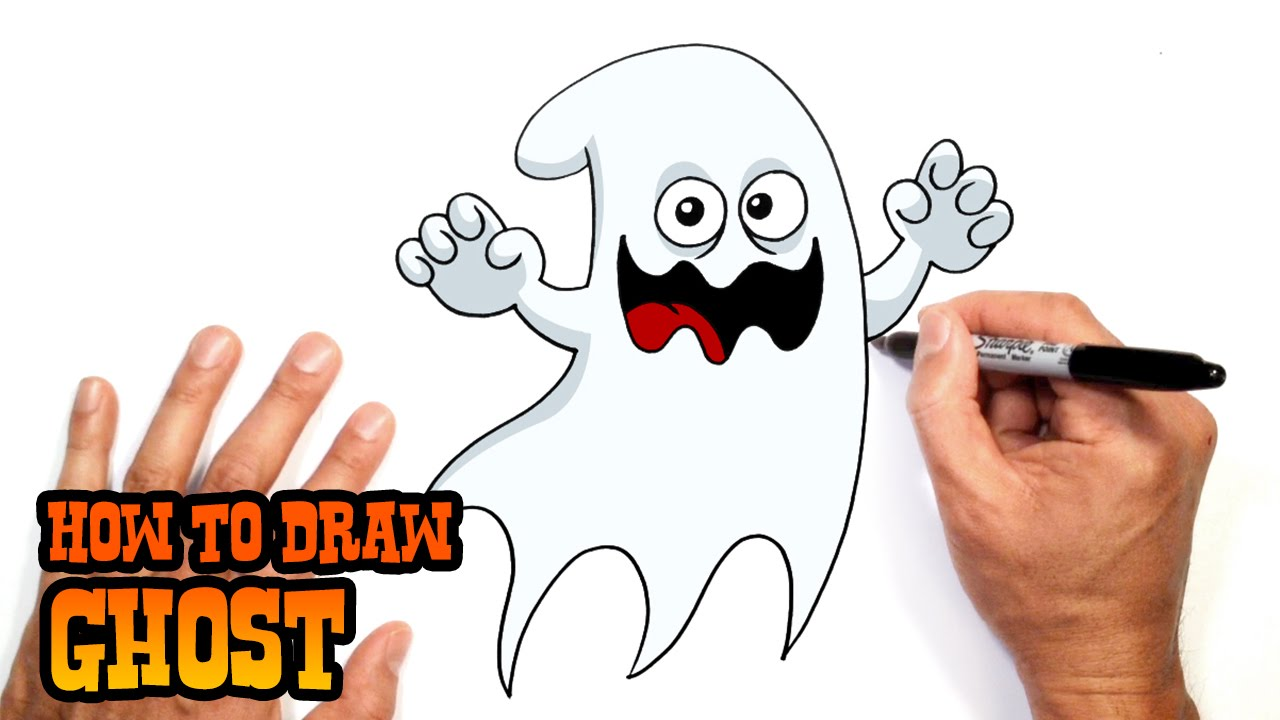 how to draw a halloween ghost drawing lesson youtube - How To Draw Halloween Decorations